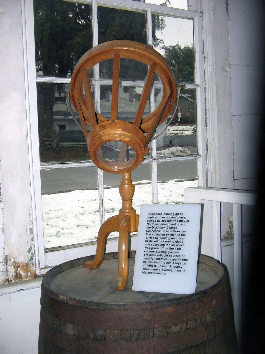 Priestley Burning Lens Replica