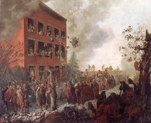 Portrait of Rioters Burning Priestley's House