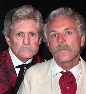 Tom Maguire and Randy Maple as Bret Harte and Mark Twain