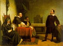 Galileo facing the Roman Inquisition - Cristiano Banti 1857