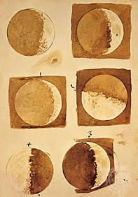 Galileo's wash drawings of the Moon - 1610